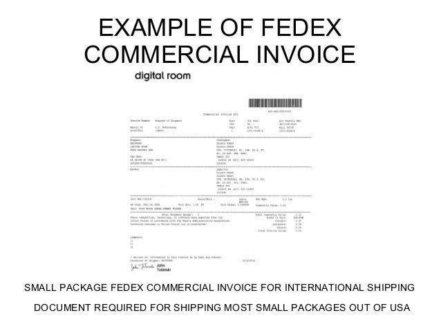 Commercial Invoice Template Fedex | Template Design