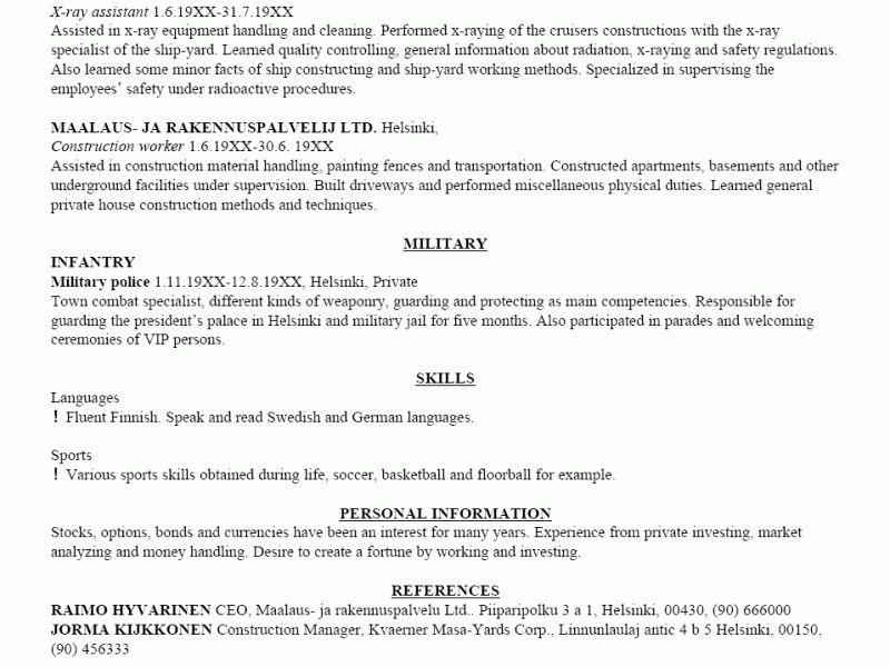 Download Examples Of A Resume   haadyaooverbayresort.com