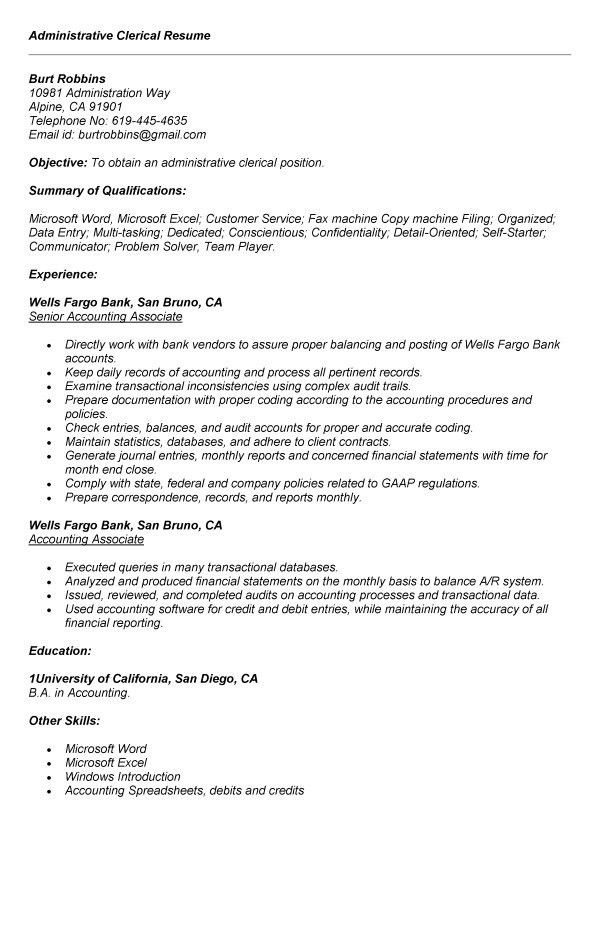 administrative clerical resume samples administrative clerk clerical resume clerical resume samples download administrative