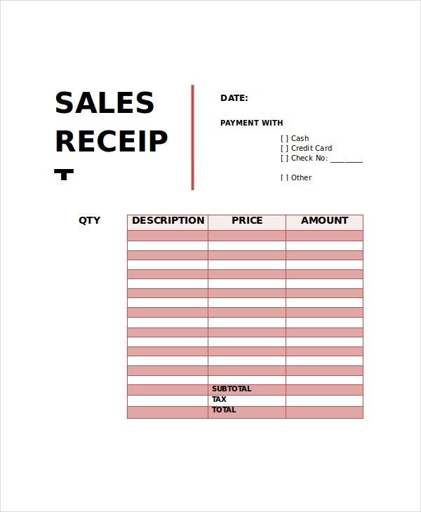 Receipt Template - 10+ Free Word, PDF Documents Download | Free ...