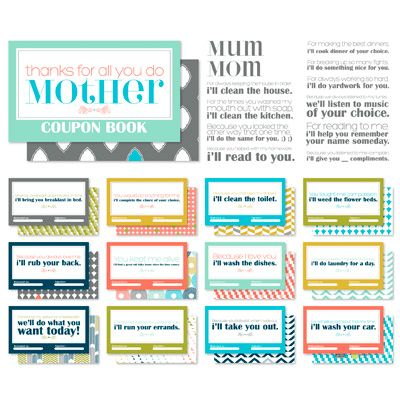 Mother's Day Coupon book, teens - with your parents permission ...
