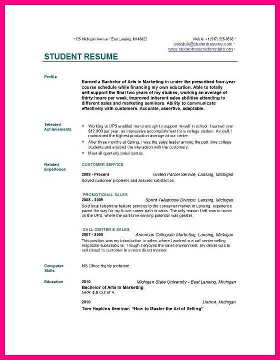 11 Job Resume Samples For College Students