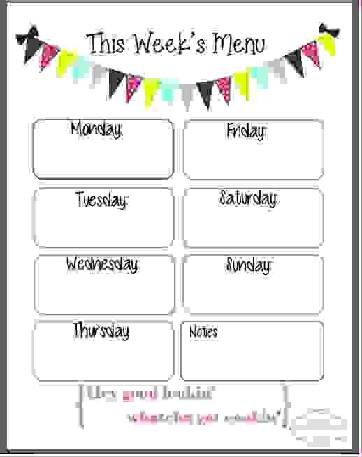 Sample Kids Menu Template  Sample Ideas