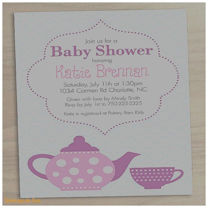 Baby Shower Invitation: Beautiful High Tea Baby Shower Invitation ...