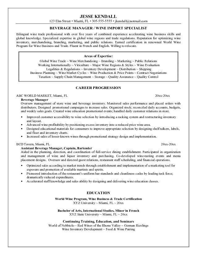 catering manager resume catering manager cv template food