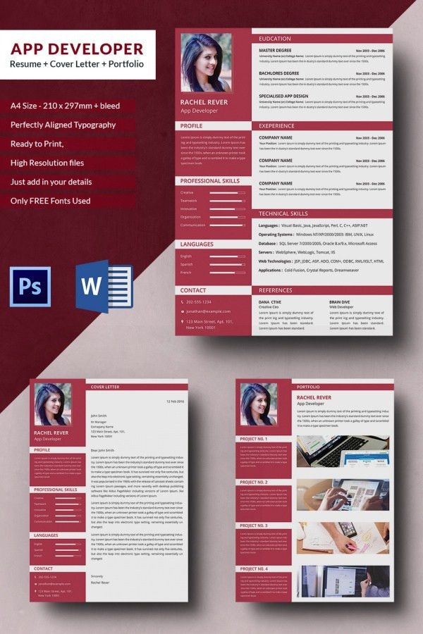 51+ Creative Resume Templates – Free PSD, EPS Format Download ...