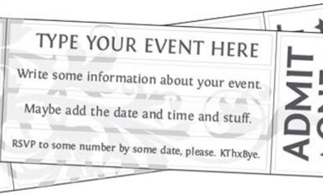 Event Ticket Maker Event Ticket Templates For Mac At Document – Free Printable Event Ticket Templates