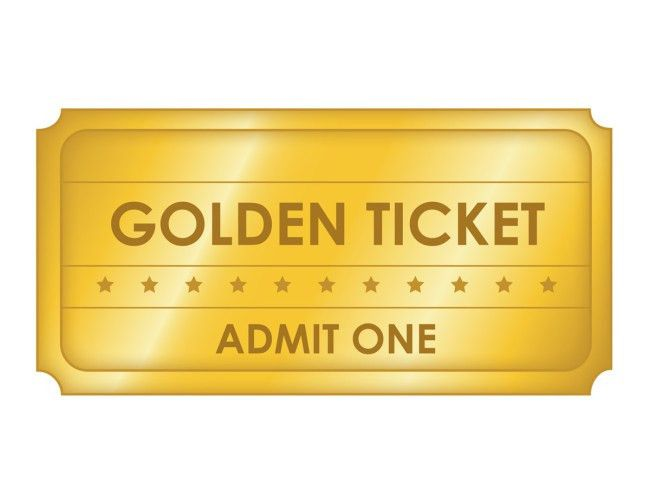 Awesome Template of Golden Blank Ticket with Shiny Gold Color and ...
