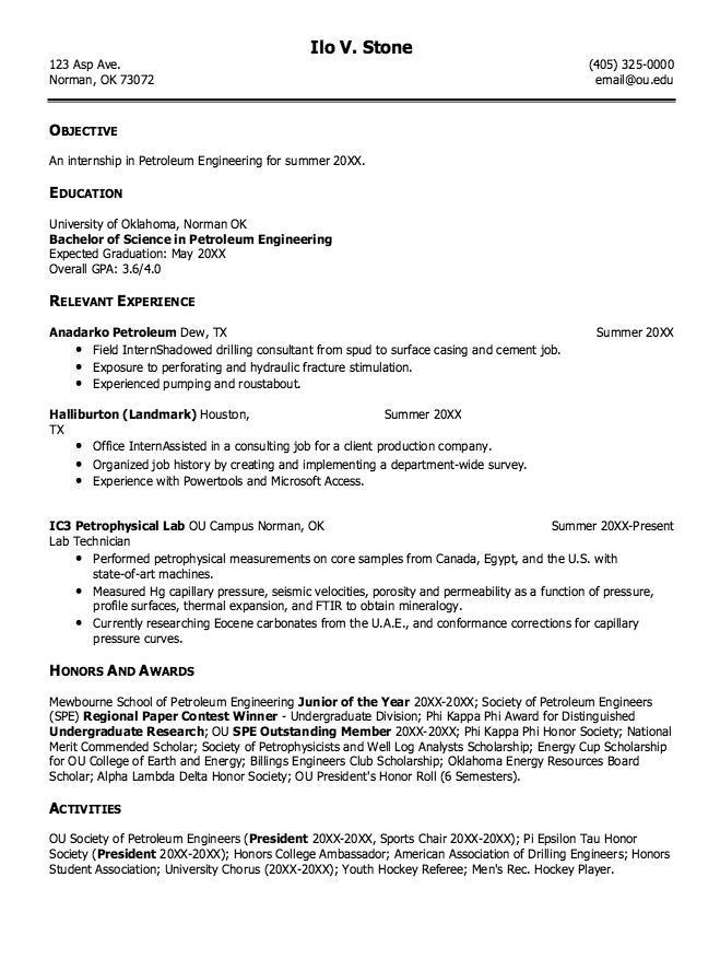 Petroleum Engineering Resume - http://resumesdesign.com/petroleum ...