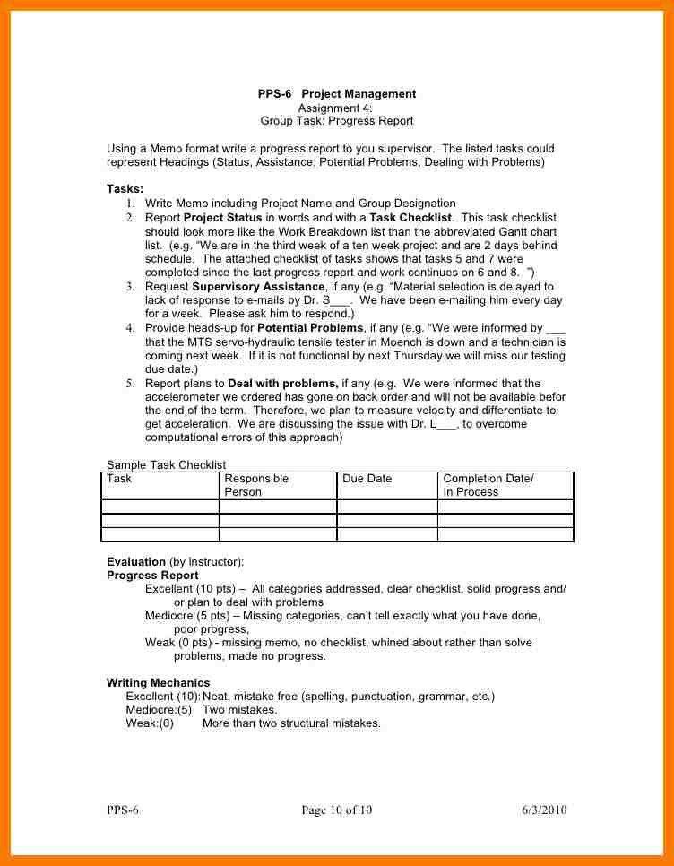 6+ project memorandum format   park-attendant
