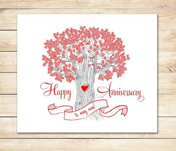Printable Anniversary Card Cute Fast Anniversary Card DIY