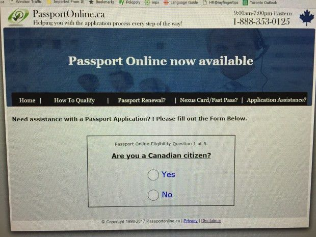 Website falsely promises: 'Get your passport online fast and easy ...
