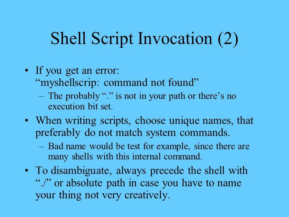 Content Linux Shells and Shell Scripts C-Shell and tcshell tcsh ...