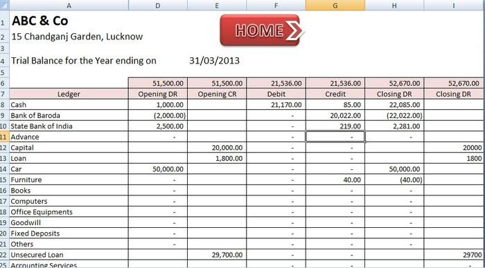 ABCAUS Excel Accounting Template - Free Download