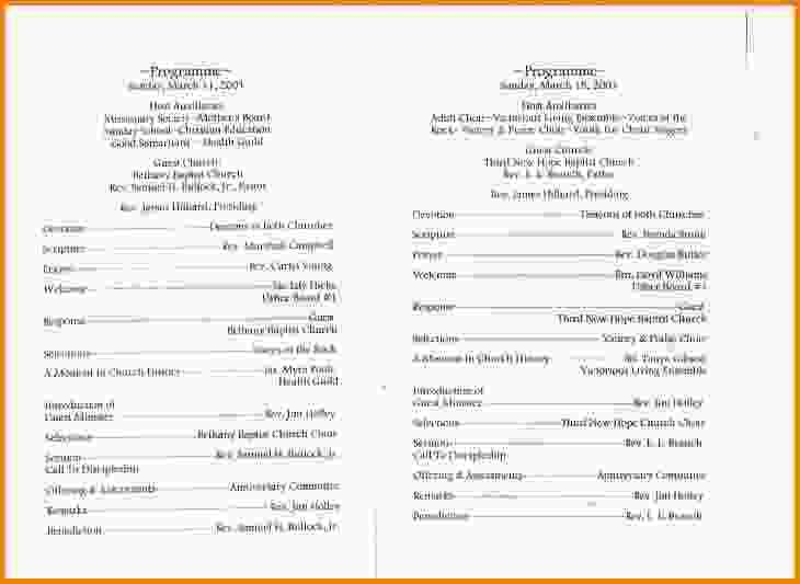 8+ church program templates - LetterHead Template Sample