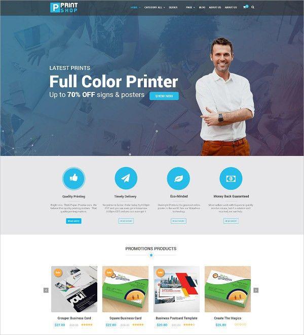 11+ Printing WordPress Themes & Templates   Free & Premium Templates