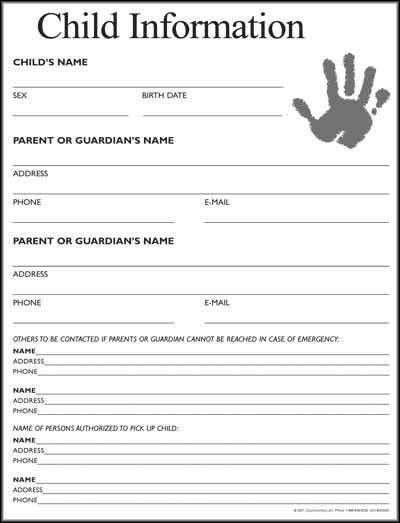 Free Church Nursery Sign In Sheet Template ~ TheNurseries