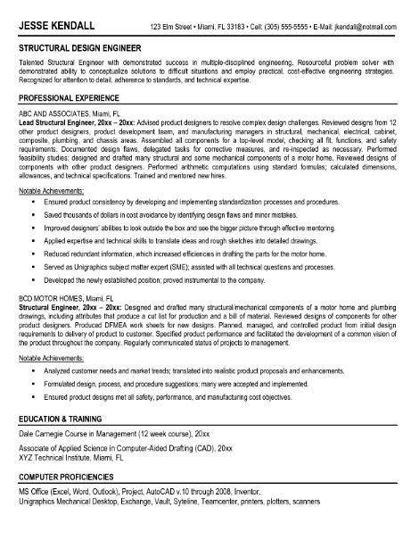 Senior Structural Engineer Resume - http://jobresumesample.com ...