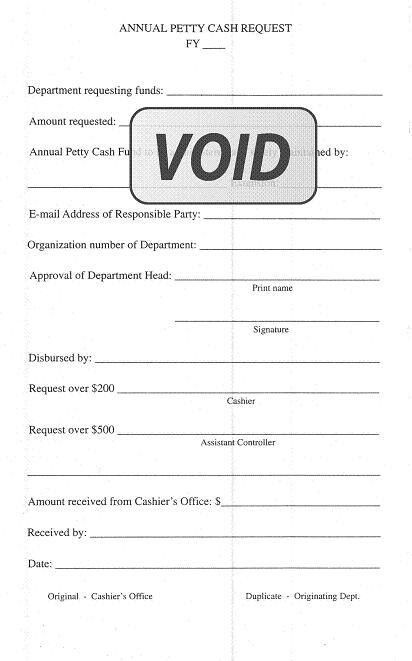 cash request form template