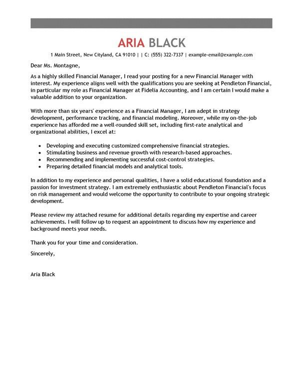 Professional Cover Letter Sample | The Letter Sample