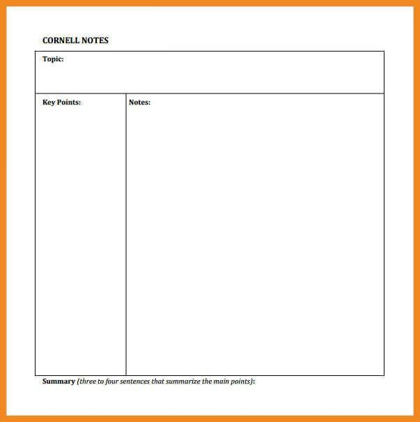 cornell notes template pdf | art resume examples