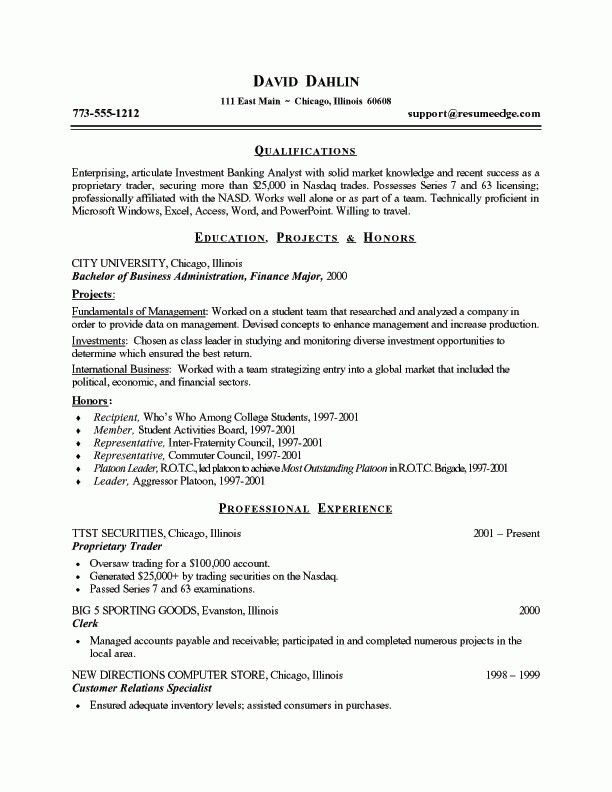 Student Resume Builder - Resume Example