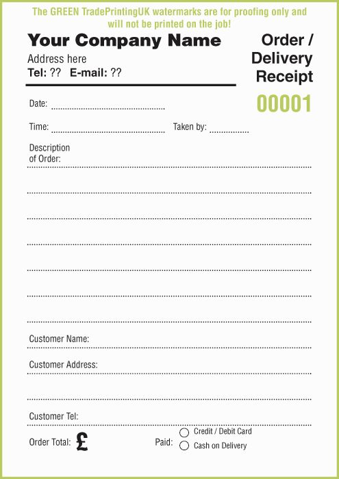 gas receipt template free