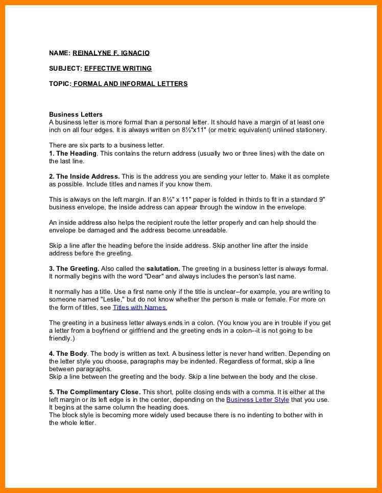 9+ formal and informal letter format | grocery-clerk