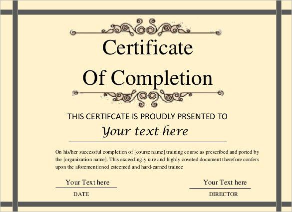 Free Certificate Template – 46+ Adobe Illustrator Documents ...