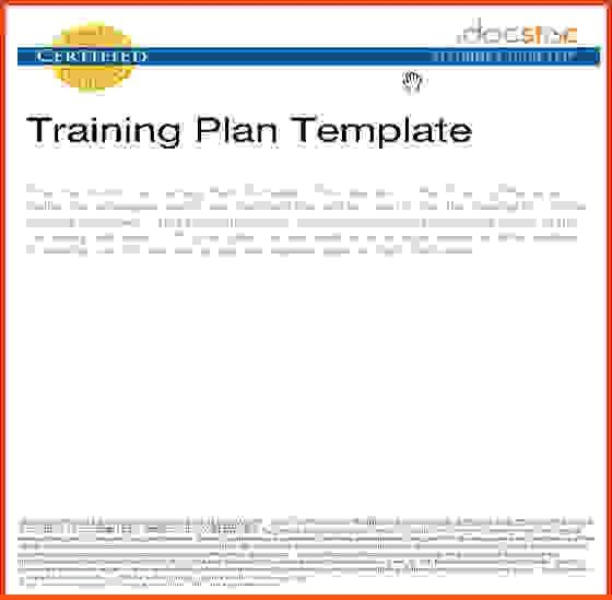 Training Manual Template.training Plan Template.jpg - Sponsorship ...