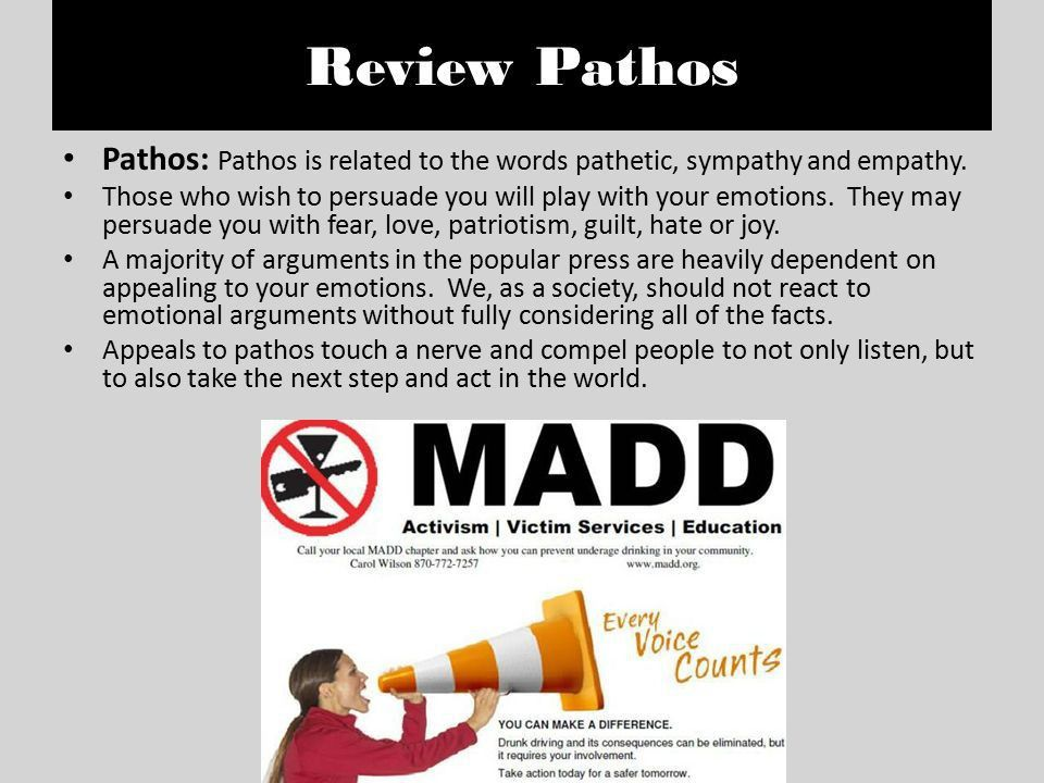 WRITE BITES Early College Campus Ethos, Pathos 1.Ethos = an ...
