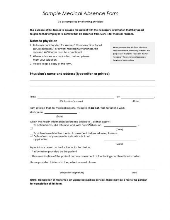 doctors note for work template download create fill and print ...