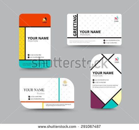 Abstract Pixel Business Card Template Contact Stock Vector ...