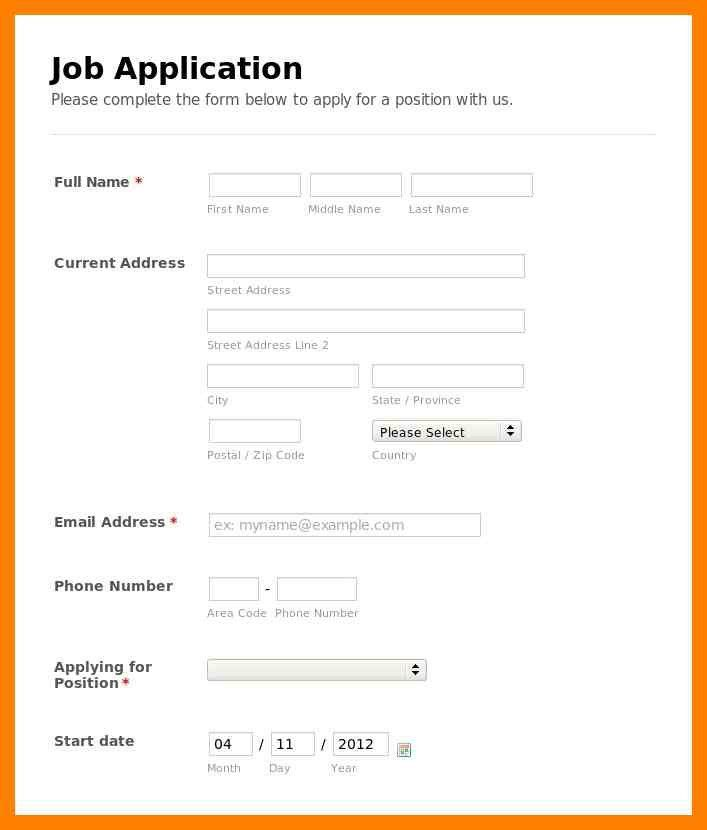 7+ simple application form | simple cv formate