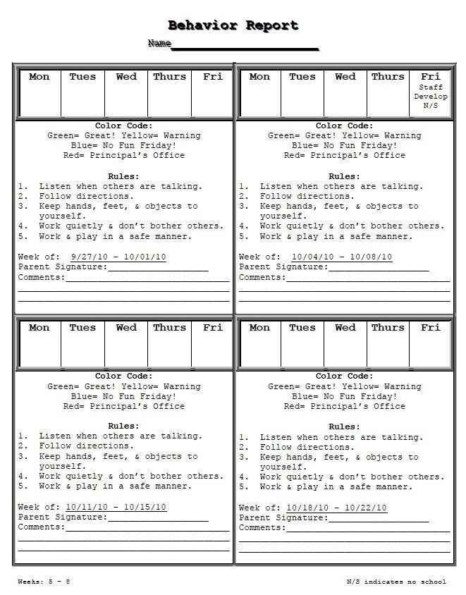 Best 25+ Weekly behavior report ideas only on Pinterest ...
