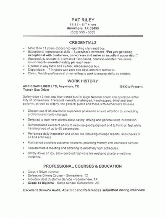 Sample Resume For Cdl Truck Drivers | jennywashere.com