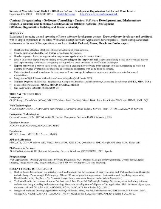 resume examples for net developer resume ixiplay free resume samples - Programmers Resume