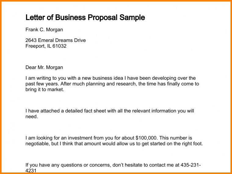 14+ letter for business proposal | quote templates