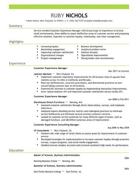 Best Customer Experience Manager Resume Example | LiveCareer