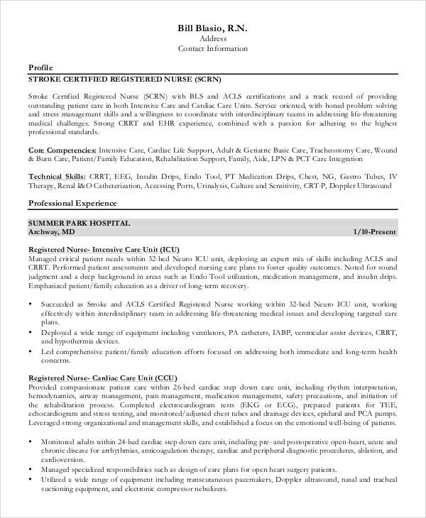 nurse resumes samples new registered nurse resume sample sample
