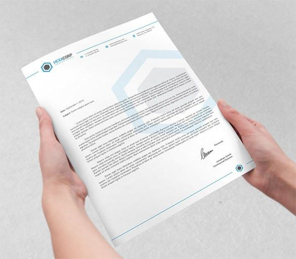 PSD Letterhead Template – 51+ Free PSD Format Download! | Free ...