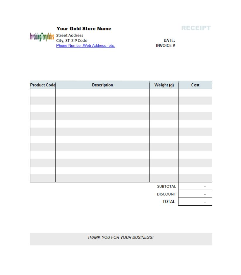 Word Invoice Template - vnzgames