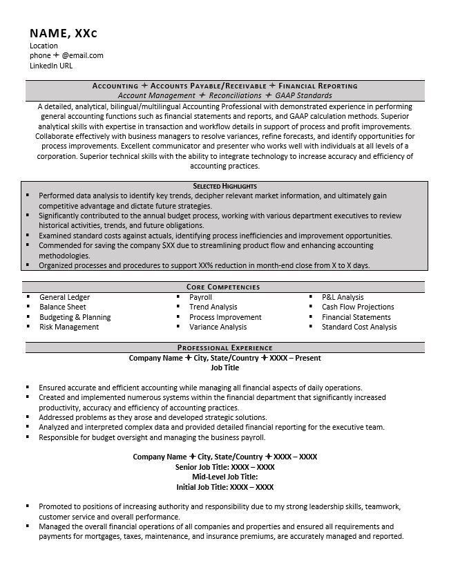 Accountant Resume Example and 5 Great Tips to Writing One - ZipJob