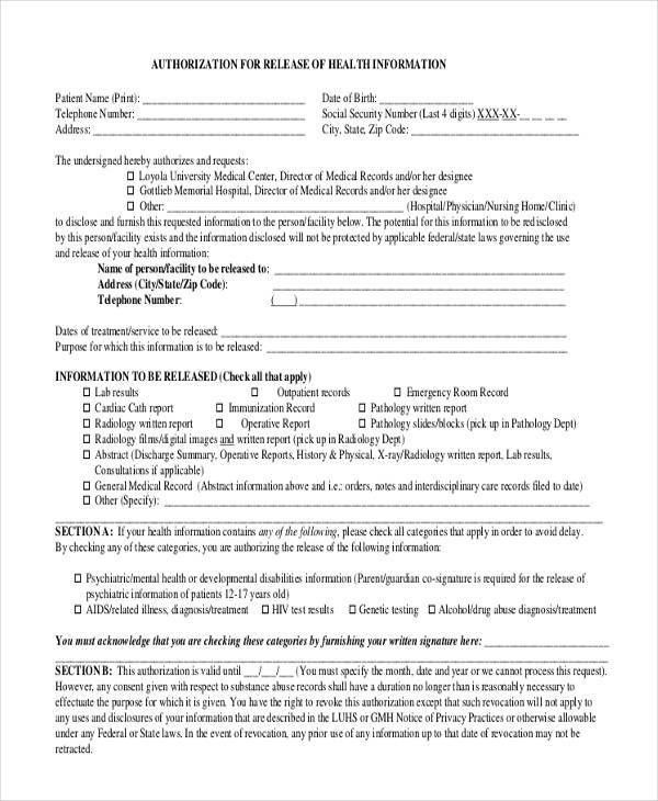 21+Print Release Form Examples
