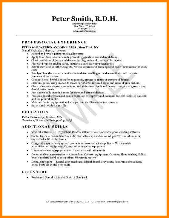 8+ dental hygiene resume examples | resume language