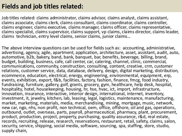job description of an insurance claims adjuster job search ...
