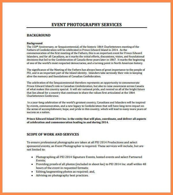 event proposal example   resume name