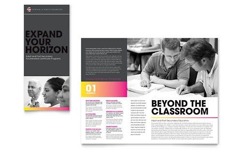 Adult Education & Business School Brochure Template Design