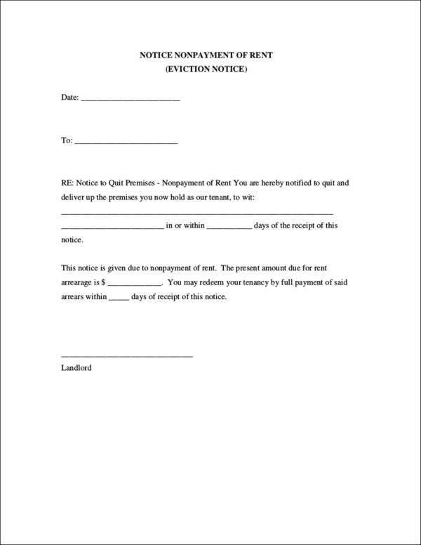 Eviction Letter Templates | Samples.csat.co