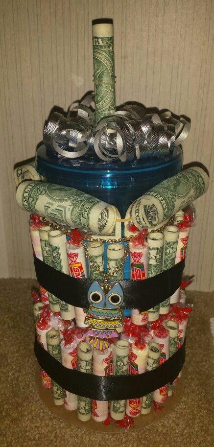 Money cake 70th birthday cake and dollar bills on pinterest - Money cake decorations ...